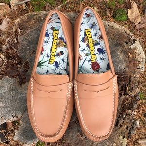 Loudmouth NWOT Tan Leather Driving Shoes Loafers